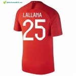 Maillot Angleterre Exterieur Lallana 2018 Rouge