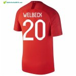 Maillot Angleterre Exterieur Welbeck 2018 Rouge