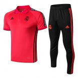 Polo Ensemble Complet Real Madrid 2019-2020 Rouge Noir